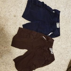 2 pair children's place boys shorts